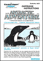 Antarctic Adventure Manual, Front © ColecoVision.dk