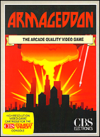 Armageddon CBS Box, Front © ColecoVision.dk