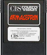 Armageddon CBS Cartridge, Front © ColecoVision.dk