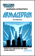 Armageddon CBS Manual, Front © ColecoVision.dk