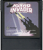 Astro Invader Cartridge Front © ColecoVision.dk