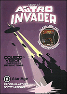 Astro Invader Manual Front © ColecoVision.dk