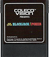 Blackjack / Poker Cartridge, Front © ColecoVision.dk
