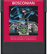 Bosconian Cartridge, Front © ColecoVision.dk
