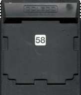 Buck Rogers Cartridge, Back © ColecoVision.dk