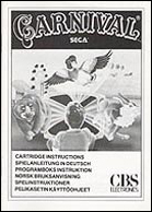 Carnival CBS Manual, Front © ColecoVision.dk