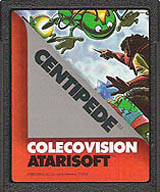 Centipede Cartridge, Front © ColecoVision.dk