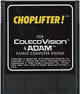 Choplifter Cartridge, Front © ColecoVision.dk