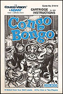 Congo Bongo Manual, Front © ColecoVision.dk