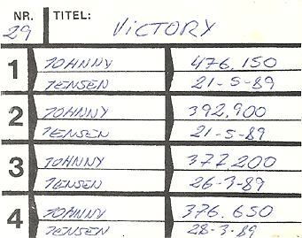 Victory High Score - ColecoVision.dk