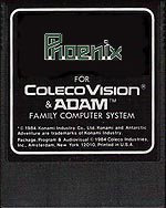 Faked Phoenix label by: colecovision.dk, August 2014, -This label do not exist for ColecoVision...
