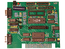 ColecoVision replacement proto 3 PCB with components.