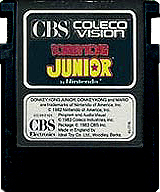 Donkey Kong Junior CBS Cartridge, Front © ColecoVision.dk