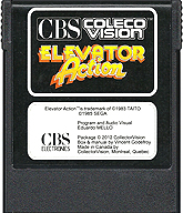 Elevator Action Cartridge, Front © ColecoVision.dk