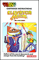 Elevator Action Manual, Front © ColecoVision.dk