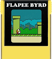 Flappy Bird Cartridge, Front © ColecoVision.dk