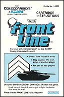 Front Line Manual, Front © ColecoVision.dk