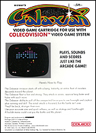 Galaxian Box, Back © ColecoVision.dk
