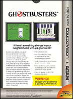 Ghostbusters Box, Back © ColecoVision.dk
