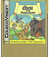 Quest for the Golden Chalice Cartridge, Front © ColecoVision.dk