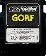 Gorf German CBS Cartridge, Front © ColecoVision.dk