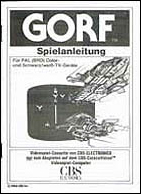 Gorf German CBS Manual, Front © ColecoVision.dk