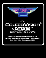 Faked Gradius 2 cartridge by: colecovision.dk, june 2014, -do not exist for ColecoVision...