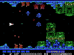 Faked Gradius 2 screenshot by: colecovision.dk, june 2014, -do not exist for ColecoVision...