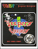 Jeepers Creepers Manual, Front © ColecoVision.dk