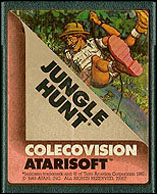 Jungle Hunt Cartridge, Front © ColecoVision.dk