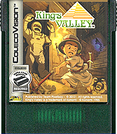 King's Valley Cartridge, Front © ColecoVision.dk