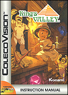 King's Valley Manual, Front © ColecoVision.dk