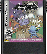 Knightmare Cartridge, Front © ColecoVision.dk