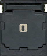 Lady Bug CBS Cartridge, Back © ColecoVision.dk