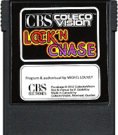 Lock 'n Chase Cartridge, Front © ColecoVision.dk