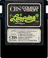 Looping CBS Cartridge, Front © ColecoVision.dk