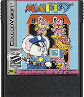 Mappy Cartridge, Front © ColecoVision.dk