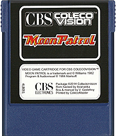 Moon Patrol Cartridge, Front © ColecoVision.dk
