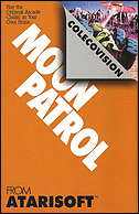 Moon Patrol Manual, Back © ColecoVision.dk