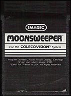 Moonsweeper Cartridge, Front © ColecoVision.dk