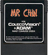 Mr. Chin Cartridge, Front © ColecoVision.dk