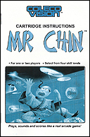 Mr. Chin Manual, Front © ColecoVision.dk