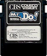 Mr. Do! CBS Cartridge, Front © ColecoVision.dk