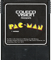 AtariSoft Pac-Man Cartridge, Front © ColecoVision.dk