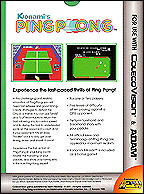 Ping Pong Box, Back © ColecoVision.dk