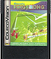 Ping Pong Cartridge, Front © ColecoVision.dk