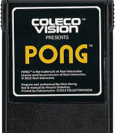 Pong Cartridge, Front © ColecoVision.dk