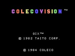 Taito's Qix Titlescreen For ColecoVision, None Exist...