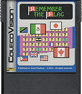 Remember The Flag Cartridge, Front © ColecoVision.dk