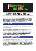 Remember The Flag Manual, Front © ColecoVision.dk